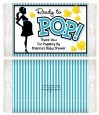 Ready To Pop Teal - Personalized Popcorn Wrapper Baby Shower Favors thumbnail