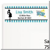 Ready To Pop Teal - Baby Shower Return Address Labels