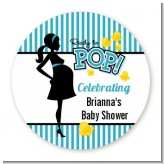 Ready To Pop Teal - Personalized Baby Shower Table Confetti