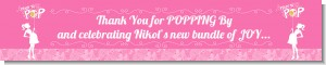 She's Ready To Pop Pink - Personalized Baby Shower Banners