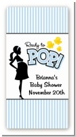 Ready To Pop Blue - Custom Rectangle Baby Shower Sticker/Labels