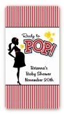 Ready To Pop - Custom Rectangle Baby Shower Sticker/Labels