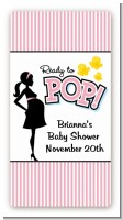 Ready To Pop Pink - Custom Rectangle Baby Shower Sticker/Labels
