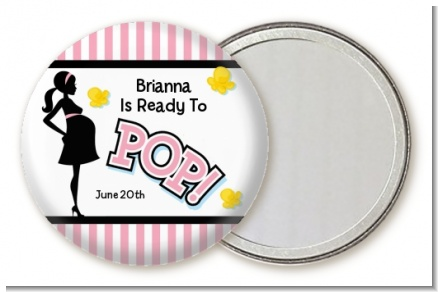 Ready To Pop Pink - Personalized Baby Shower Pocket Mirror Favors