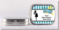 Ready To Pop Teal - Personalized Baby Shower Mint Tins