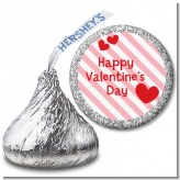Red Hearts - Hershey Kiss Valentines Day Sticker Labels