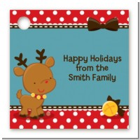 Rudolph the Reindeer - Personalized Christmas Card Stock Favor Tags