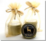 Reindeer Gold Glitter - Christmas Gold Tin Candle Favors