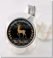 Reindeer Gold Glitter - Personalized Christmas Candy Jar