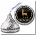 Reindeer Gold Glitter - Hershey Kiss Christmas Sticker Labels thumbnail