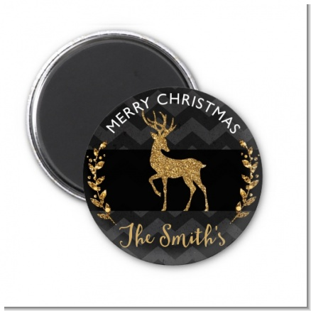 Reindeer Gold Glitter - Personalized Christmas Magnet Favors