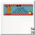 Rudolph the Reindeer - Christmas Return Address Labels thumbnail
