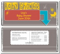 Retro Baby Theme - Personalized Baby Shower Candy Bar Wrappers