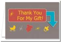 Retro Baby Theme - Baby Shower Thank You Cards