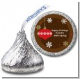 Retro Ornaments - Hershey Kiss Christmas Sticker Labels thumbnail