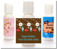 Retro Ornaments - Personalized Christmas Lotion Favors