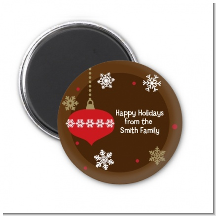 Retro Ornaments - Personalized Christmas Magnet Favors