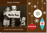 Retro Ornaments - Personalized Photo Christmas Cards