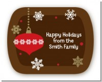 Retro Ornaments - Personalized Christmas Rounded Corner Stickers