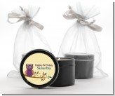 Retro Owl - Birthday Party Black Candle Tin Favors
