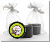 Retro Roller Skate Party - Birthday Party Black Candle Tin Favors