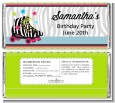 Retro Roller Skate Party - Personalized Birthday Party Candy Bar Wrappers thumbnail