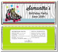 Retro Roller Skate Party - Personalized Birthday Party Candy Bar Wrappers