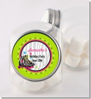 Retro Roller Skate Party - Personalized Birthday Party Candy Jar