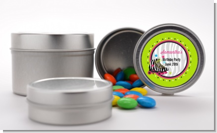 Retro Roller Skate Party - Custom Birthday Party Favor Tins