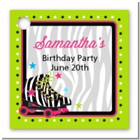 Retro Roller Skate Party - Personalized Birthday Party Card Stock Favor Tags