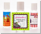 Retro Roller Skate Party - Personalized Birthday Party Hand Sanitizers Favors