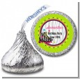 Retro Roller Skate Party - Hershey Kiss Birthday Party Sticker Labels thumbnail
