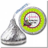 Retro Roller Skate Party - Hershey Kiss Birthday Party Sticker Labels