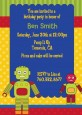 Robot Party - Birthday Party Invitations thumbnail