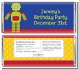 Robot Party - Personalized Birthday Party Candy Bar Wrappers thumbnail
