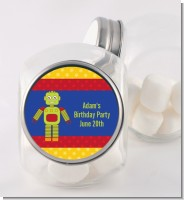 Robot Party - Personalized Birthday Party Candy Jar
