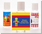 Robot Party - Personalized Birthday Party Hand Sanitizers Favors