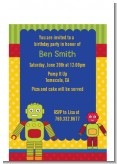 Robot Party - Birthday Party Petite Invitations