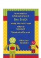 Robot Party - Birthday Party Petite Invitations thumbnail