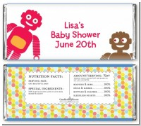 Robots - Personalized Baby Shower Candy Bar Wrappers