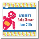 Robots - Personalized Baby Shower Card Stock Favor Tags