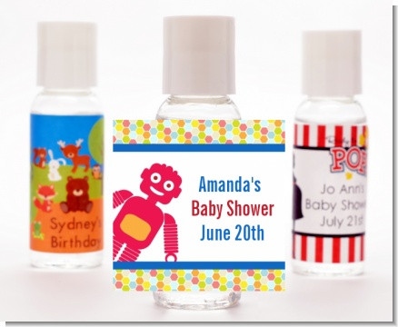 Robots - Personalized Baby Shower Hand Sanitizers Favors