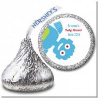Robots - Hershey Kiss Baby Shower Sticker Labels