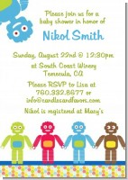 Robots - Baby Shower Invitations