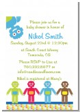 Robots - Baby Shower Petite Invitations