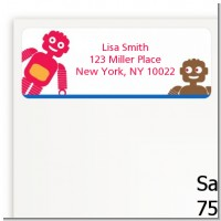 Robots - Baby Shower Return Address Labels