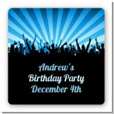 Rock Band | Like A Rock Star Boy - Square Personalized Birthday Party Sticker Labels