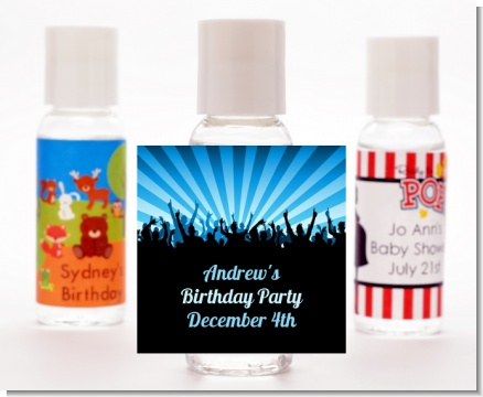 Rock Band | Like A Rock Star Boy - Personalized Birthday Party Hand Sanitizers Favors