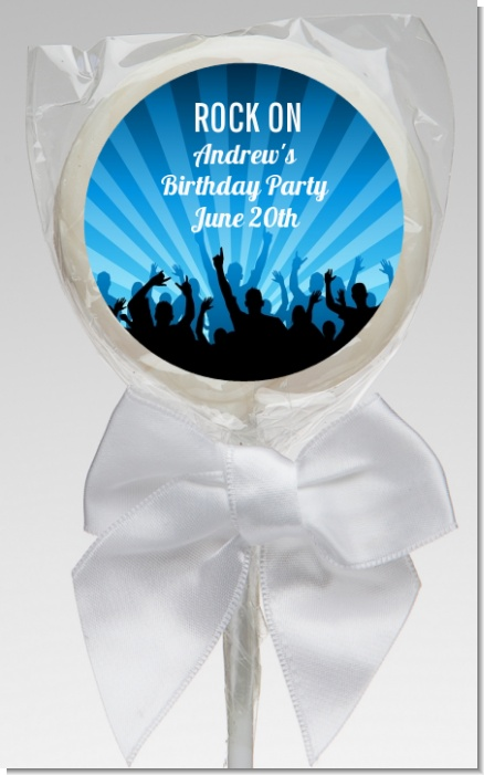 Rock Band | Like A Rock Star Boy - Personalized Birthday Party Lollipop Favors