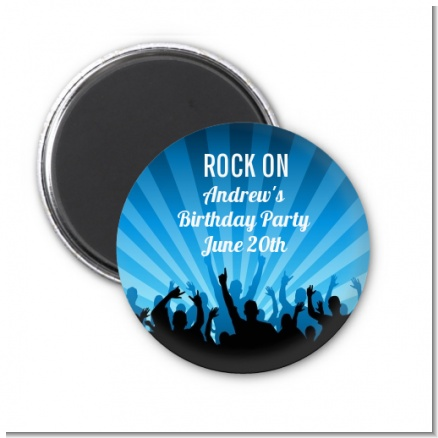 Rock Band | Like A Rock Star Boy - Personalized Birthday Party Magnet Favors